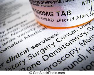 prescripción, tabletas