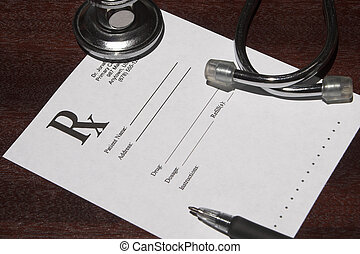 Prescription - A blank page from a doctor\\\'s drug...
