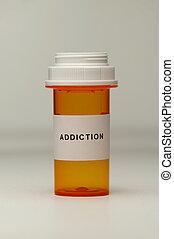 Prescription Bottle with Label - An empty prescription...
