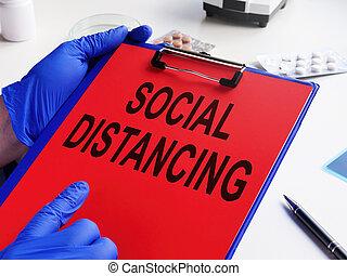 prescription, coronavirus, covid-19., tient, distancing, docteur, social