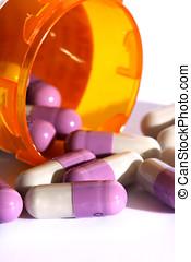 Prescription Drug - Isolated prescription drug capsules