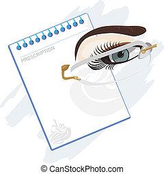 Prescription for glasses