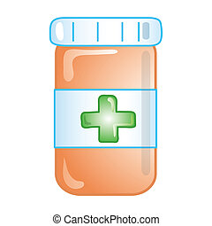 Prescription icon - Stylized icon of prescription bottle (...