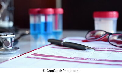 Prescription List On Table - Prescription ListPrescription...