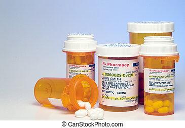 Prescription Medication - Prescription pills in a plastic...