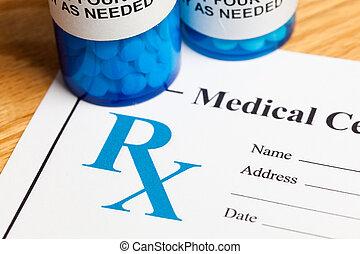 Prescription Medicine - Pill Bottle and Prescription,...