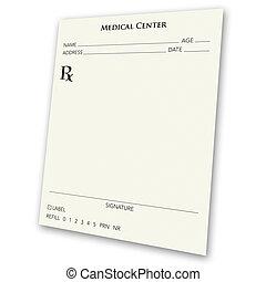 Prescription Pad - A blank prescription pad - a great ad...