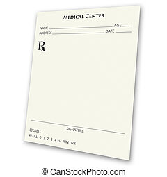 blank prescription pad