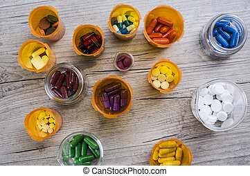 Prescription pills - Different prescription pills inside...