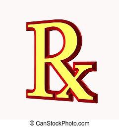 prescription symbol - symbol of prescription used by doctor...