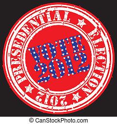 presedential, r, grunge, elección, 2012