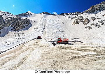 Presena glacier on summer