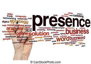 Presence word cloud - Presence concept word cloud background