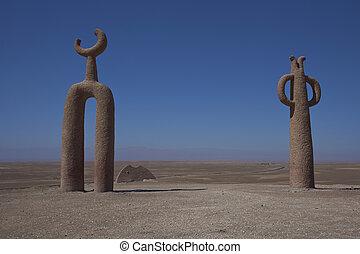 Sculptures in the Atacama Desert