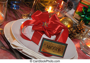 Present at the festive table for Christmas