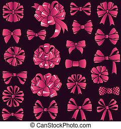 present bows set