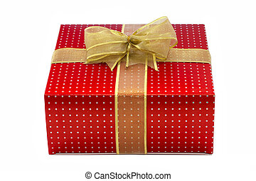 present box isolated over white