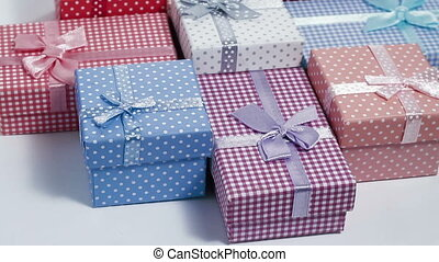 present box rotating background loo - multi color present...