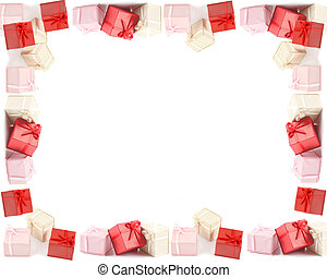 Present boxes frame or border - Different colored boxed...