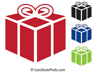 Present gift icon - Web icon for gift or present in simple...