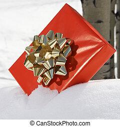 Present in snow.