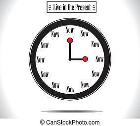 Present Moment concept Watch Clock - Present Moment concept...