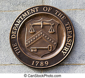 Present Seal Sign Symbol US Treasury Department Washington...