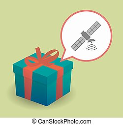 Present with a satellite