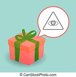 Present with an all seeing eye