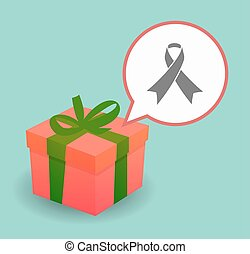 Present with an awareness ribbon