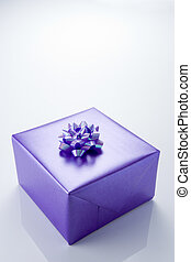 Present Wrapped In Purple Paper