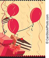 presenta, festa, palloni