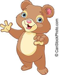 presentación, oso, teddy