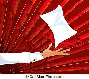 presentación, un, página, -, rojo