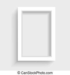 presentación, vertical, marco