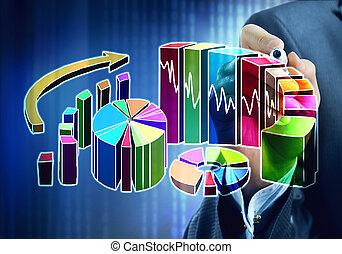 presentare, vendite, statistica