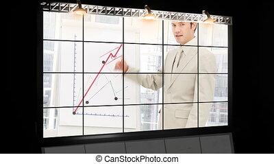 presentatie, handel team