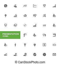presentatie, iconen