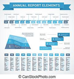 presentatie, infographics, diagrammen, voor, financiën