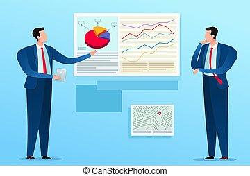 presentatie, plan, zakelijk