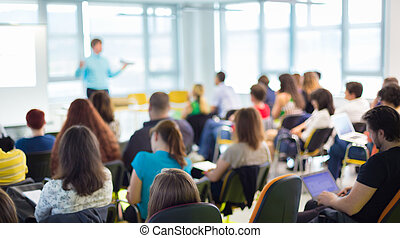 presentation., スピーカー, ビジネス 大会
