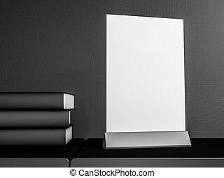 presentation., デザイン, テーブル, 3d, あなたの, テント