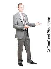 Presentation - A business man presenting