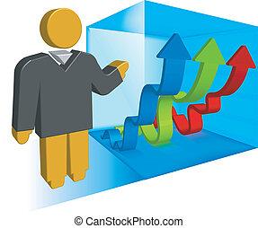 presentation, affärsverksamhet illustration