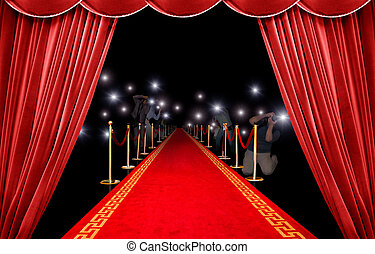 Presentation and photographer - Presentation with red carpet...