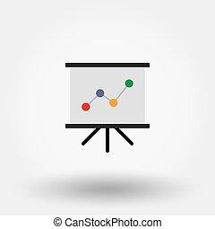 Presentation board with diagram