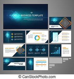 presentation business banner template set