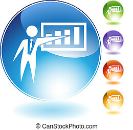 Presentation Businessman Crystal Icon