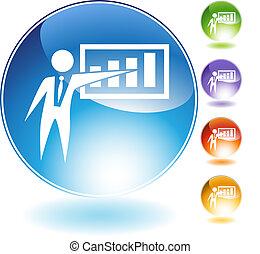 Presentation Businessman Crystal Icon
