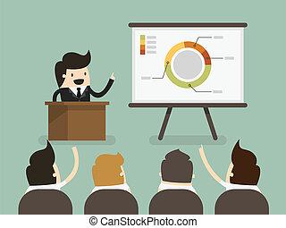 Presentation - Businessman giving a presentation